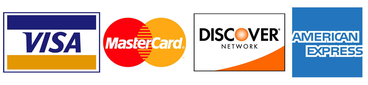 We accept visa 174 mastercard 174 discover 174 and american express 174