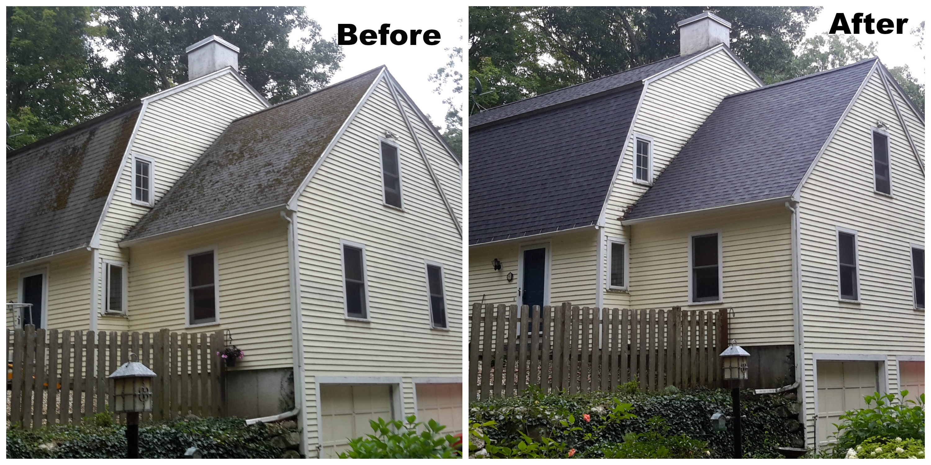 Roof Cleaning Before And After Roof Cleaning Perfection